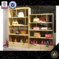 madeira da loja de calçados prateleiras de exposição de calçados decoração de loja