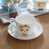Haonai 2015 wholesale white ceramc coffee cup and saucer set
