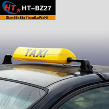 HT roof top light Yellow color led taxi sign for car