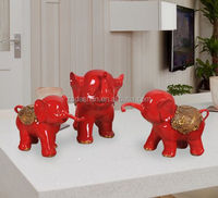 Handmade Carved Resin Elephant Craft for Home Decoration, Elephant figure