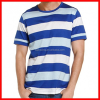 Blue and white stripe t-shirt