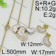 Até à data de prata estilo do coração cor replica set jóias