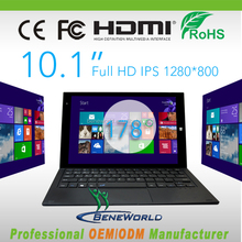 Lastest 10.1 inch intel tablet pc with keyboard , 2 in 1 tablet&laptop