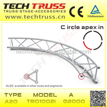 Triangle Circle truss , A20-TR01002 apex in stage lighting curved truss fashion show stage equipment runway truss