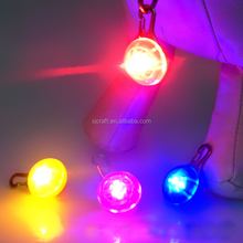 Supply LED Luminous Pet Dog LED Tag Have Other Design License Pendants Round Eight Color Factory Produce Fast Shipping SJDT-01