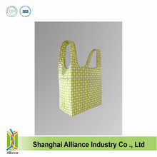 U shape polyester street fashion eco friendly foldable bag
