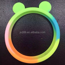 New colours rainbow universal silicone bumper case cover for mobile phone shine at night case
