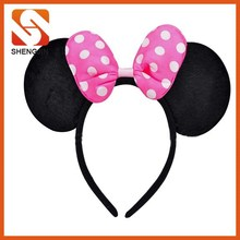 Minnie Mouse Ears Headbands christmas Pink Polka Dots Bows Party gifts xmas