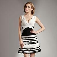 V neck wholesale best selling lace short evening dress