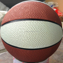 Super quality new products stock 12 panels rubber basketball