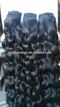 human indian hair extension human water wavy/cury hair hair weaving