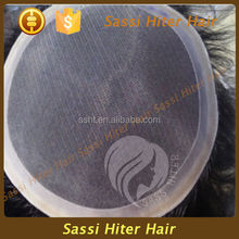 7A GRADE VIRGIN REMY INVISIBLE MONO HAIRPIECE FOR MEN
