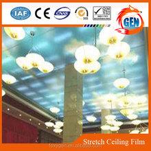 inerior decoration vivid blue ceiling film