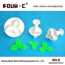 Christmas tree Leaf plunger cutter, Christmas series pastry cutter fondant cake decorating plunger cutters,sugarcraft cutters