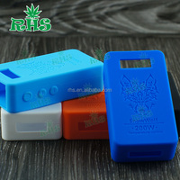 New fashion 1:1 clone snowwolf box mod vapor flask v3 200w uk hot selling 19 colors silicone case/skin/sleeve/cover/wrap