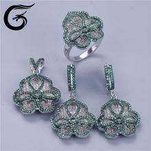 luxury set jewelry cz 925 silver wholesale silver jewellery