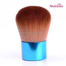blue synthetic kabuki brush