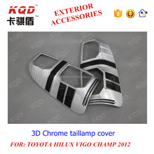 hilux accessories 2015 3D taillamp cover for toyota hilux vigo accessories hilux vigo champ chromed
