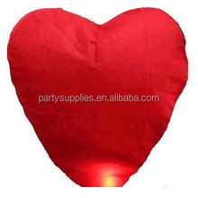 Red Heart Sky Lanterns Chinese Paper globos Fire Wish Candle Balloons for Wedding Decoration / Party / Valentine