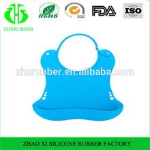 v- coool silicone bavette de protection de l'environnement de imperméable à l'eau après le dîner de bavoir de bébé bib