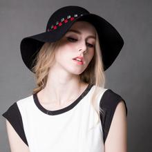 Black Floppy Ladies Derby Hat