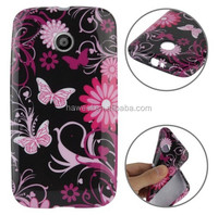 Butterfly Flowers Pattern Smooth Surface TPU Case for Motorola Moto E /for XT1021 / for XT1022 / for XT1025