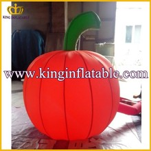 Lighted Red Halloween Inflatable Pumpkin Model For Party Decoration