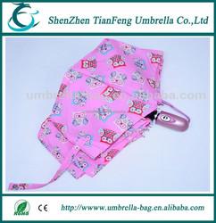 aluminium ribs fold umbrella with 2 fold aluminium ribs and 1 fold fiberglass