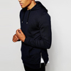 mens streetwear side zipper cheap black hoodies
