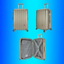 SKD and CKD trolley Suitcase, ABS PC Suitcase / wheeled Suitcase / semi finished product accessory rigid hard shell suit case