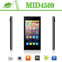 New model 4.5 inch MTK6582M quad core Android 4.4 dual camera android phone unlock