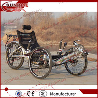 aluminum alloy frame recumbent trike, recumbent bike, recumbent bicycle