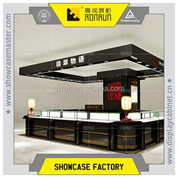 Shopping mall jade store ,tempere glass jewelry display counter ,jewelry showcase for sales