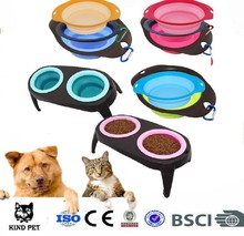 High quality Pet product foldable feeder for dog and cat