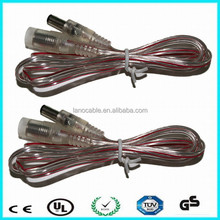 all kinds of different voltage and current of transparent dc power adapter cable