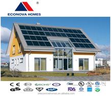 Econova new steel prefabricated houses with solar system