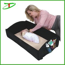 4in1 anywhere portable baby travel bed black changing infant diaper bag, foldable baby bag bed
