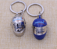 Personalized Custom metal helmet 3d keychain