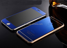 NEWEST blue color plated for iphone 5s screen protector tempered glass 4 wholesale price