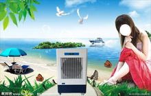 split type evaporative air condition with cooling system high quality