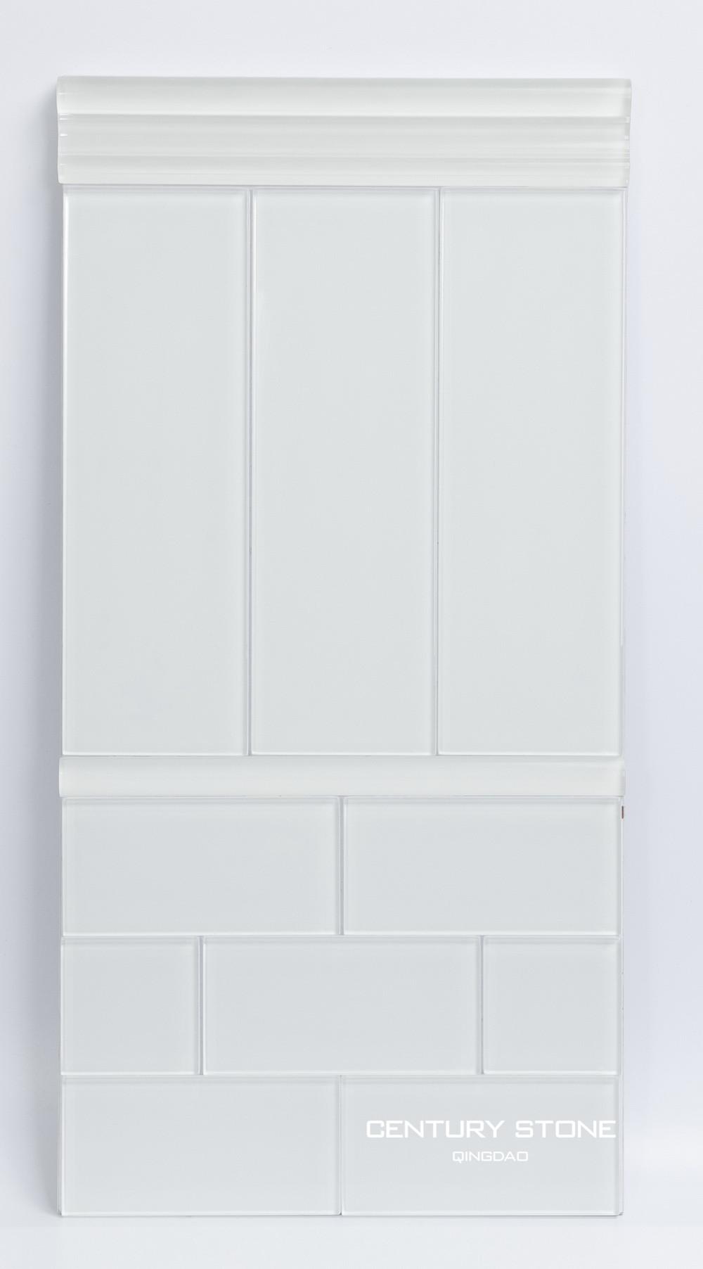 Colorful Crystal Glass Liner Pencil Tile For Bathroom Wall Border ...