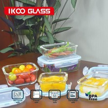 lock n lock food storage containers/glass storage box/Kitchen storage