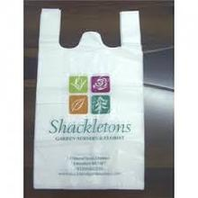 Flexo printing HDPE T-shirt Plastic Bag with logo/ best price/ shopping plastic bag