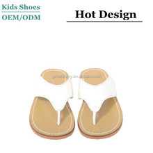 T strap white flip flop toddler girls summer sping sandals ,materials in making slippers