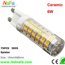 Capsule LED Halogen Replacement Bulb 5W 7W 2835SMD Ceramic G9 led