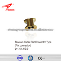 Titanio plana cable conector tipo( plana conector)