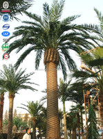 Outdoor decoration camouflaged palm tree GMS telecom cell site monopole