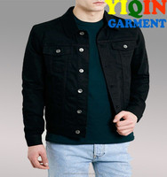 Black Stretch Skinny Denim Western Jacket