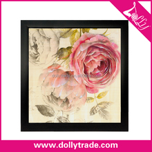 Pink Rose Abstract Flower Painting Paper Printing Painting For Bed Room Wall Decoration