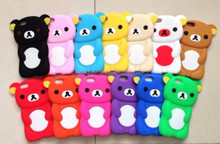 factory price silicone bear animal custom phone cases